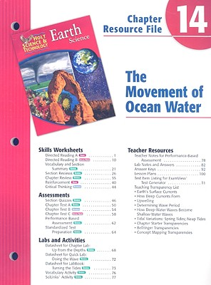 Image for Holt Science & Technology Earth Science Chapter 14 Resource File: The Movement of Ocean Water