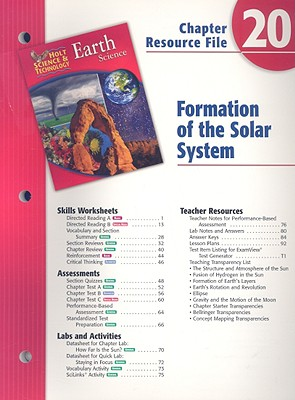 Image for Holt Science & Technology Chapter 20 Resource File: Formation of the Solar System