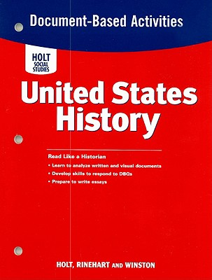 Image for United States History, Grades 6-9 Document-based Activities: Holt United States History