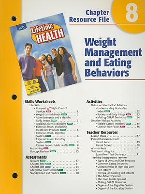 Image for A Lifetime of Health Chptr. 8 : Weight Management [Paperback]  by