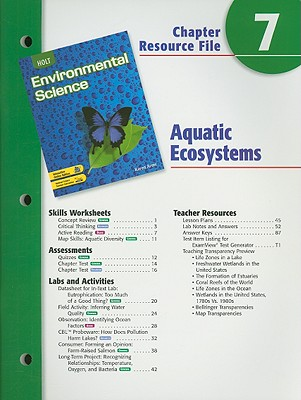 Image for Holt Environmental Science Chapter 7 Resource File: Aquatic Ecosystems