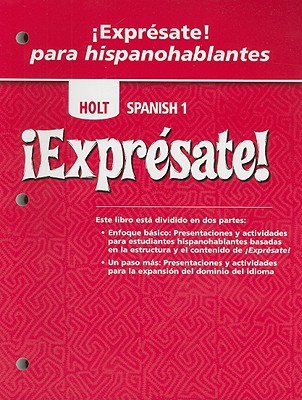 Image for ¡Exprésate!: Expresate Para Hispanohablantes Student Edition Levels 1A/1B/1