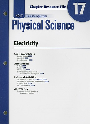 Image for Holt Science Spectrum: Physical Science with Earth and Space Science: Chapter Resource File, Chapter 17: Electricity Chapter 17: Electricity