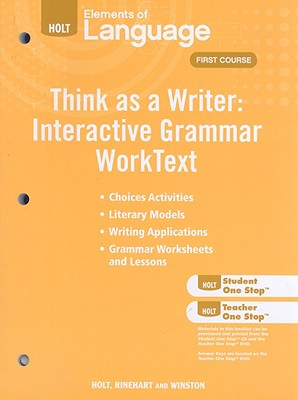 Image for 2009 Holt Elements of Language: Think as a Writer, Course One