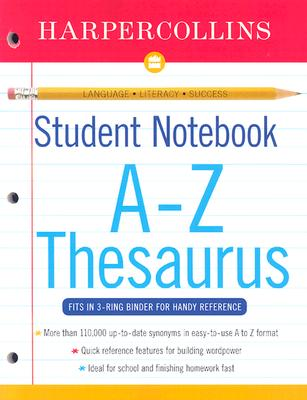 Image for Harper Collins Student Notebook A-Z Thesaurus