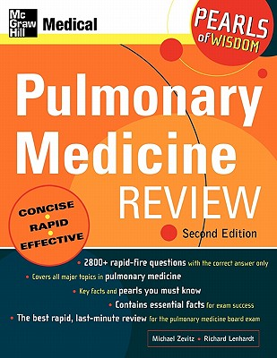 Pulmonary Medicine Review: Pearls of Wisdom, Zevitz, Michael; Lenhardt, Richard