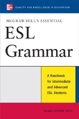 Image for McGraw-Hill's Essential ESL Grammar  A Handbook for Intermediate and Advanced ESL Students