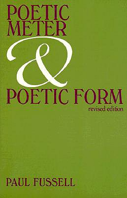 Image for Poetic Meter and Poetic Form