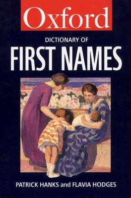 Image for A Dictionary of First Names