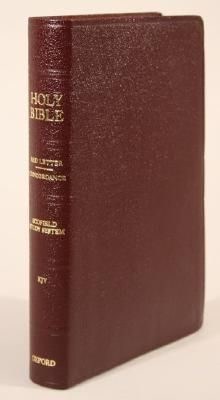 Image for The Old Scofield Study Bible (KJV, Classic Edition, Genuine Leather, Burgandy)