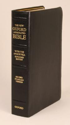The New Oxford Annotated Bible with the Apocrypha, Expanded : Revised Standard Version (Genuine Leather Black 8914A)