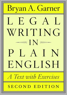 Image for Legal Writing in Plain English: A Test with Exercises, 2nd edition