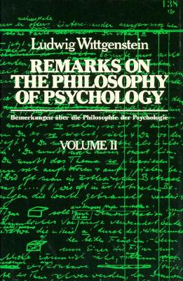 Image for Remarks on the Philosophy of Psychology Volume II