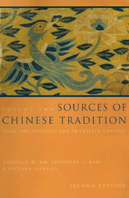 Image for Sources of Chinese Tradition, Vol. 2