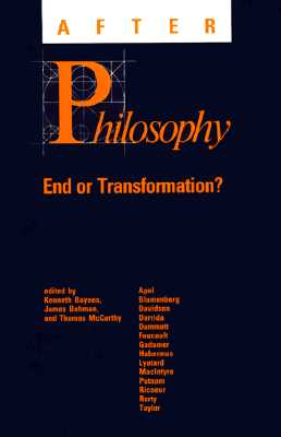 Image for After Philosophy End or Transformation?
