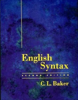 English Syntax - 2nd Edition, Baker, C. L.