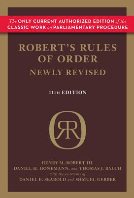Image for Robert's Rules of Order Newly Revised