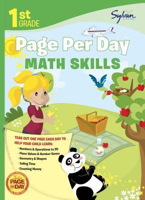 1st Grade Page Per Day: Math Skills (Sylvan Page Per Day Series, Math), Sylvan Learning