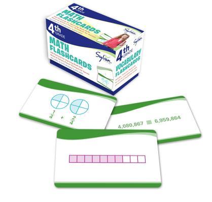 4th Grade Math Flashcards: 240 Flashcards for Improving Math Skills Based on Sylvan's Proven Techniques for Success (Sylvan Math Flashcards), Sylvan Learning