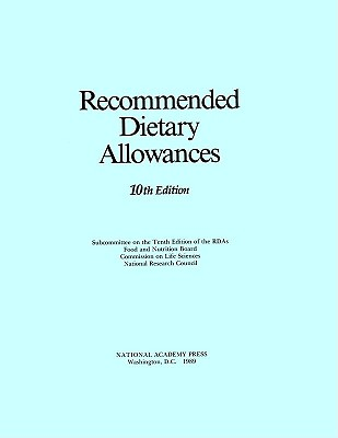 RECOMMENDED DIETARY ALLOWANCES, NATIONAL ACADEMY PRE