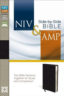 """Image for """"NIV and Amplified Side-by-Side Bible (Black Bonded Leather, Gilded-Silver Page Edges)"""""""