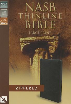 "Image for ""NASB, Thinline Zippered Collection Bible, Large Print, Bonded Leather, Black, Red Letter Edition"""