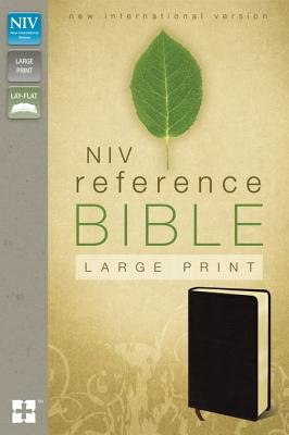 Image for NIV, Reference Bible, Large Print, Bonded Leather, Burgundy, Red Letter Edition