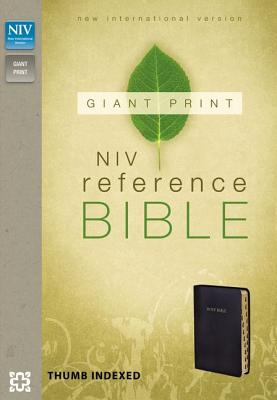 Image for NIV Reference Bible Giant Print Imitation Leather Black Inde