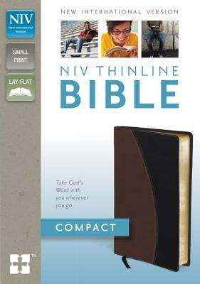 """Image for """"Compact NIV Thinline Bible (BlackTan Italian Duo-Tone, Gilded-Gold Page Edges)"""""""