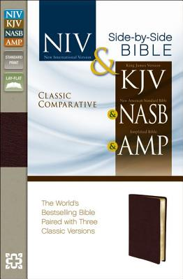 "Image for ""NIV, KJV, NASB, Amplified, Classic Comparative Parallel Bible, Bonded Leather, Burgundy: NIV and"""