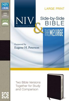 "Image for ""NIV, The Message, Parallel Bible, Large Print, Bonded Leather, Black: Two Bible Versions Together f"""