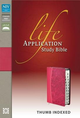 "Image for ""NIV, Life Application Study Bible, Leathersoft, Pink, Indexed, Red Letter Edition"""