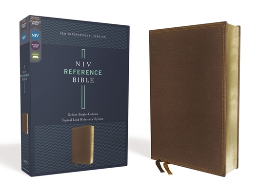 Image for NIV, Reference Bible, Deluxe Single-Column, Leathersoft, Brown, Comfort Print