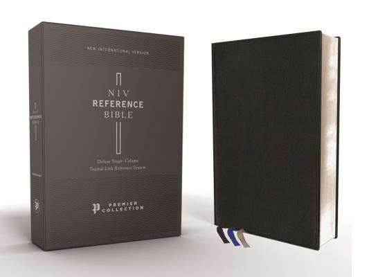 Image for NIV, Reference Bible, Deluxe Single-Column, Premium Leather, Goatskin, Black, Premier Collection, Comfort Print