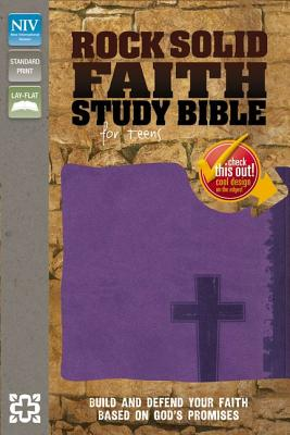 """Image for """"NIV, Rock Solid Faith Study Bible for Teens, Leathersoft, Purple: Build and defend your faith based"""""""