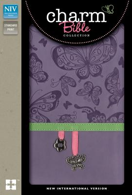 "Image for ""NIV, Charm Bible Collection (Lavender Butterflies, Italian Duo-Tone)"""