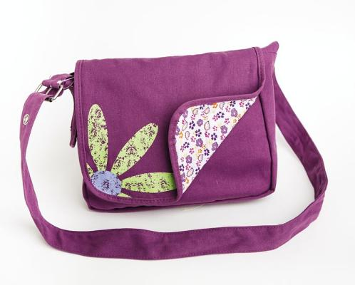 Image for Faithgirlz Messenger Bag Grape Med