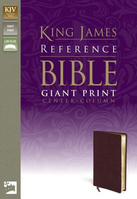 Image for KJV, Reference Bible, Giant Print, Bonded Leather, Burgundy, Red Letter Edition