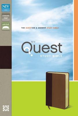 NIV, Quest Study Bible, Imitation Leather, Burgundy/Tan: The Question and Answer Bible, Christianity Today Intl.