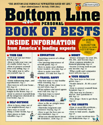 Image for Bottom Line Personal Book of Bests