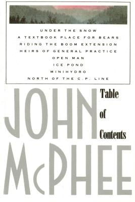 Table of Contents, JOHN MCPHEE