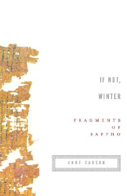 If Not, Winter: Fragments of Sappho, Sappho