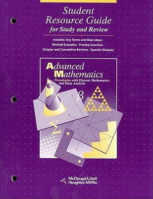 Image for McDougal Littell Advanced Math: Student Resource Guide for Study and Review Grades 9-12