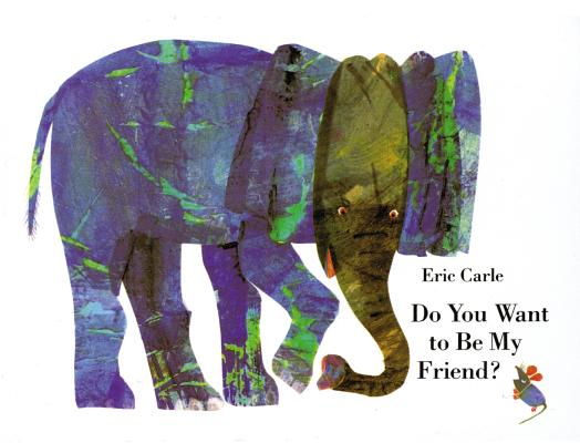 Do You Want to Be My Friend? miniature book: miniature edition, Eric Carle