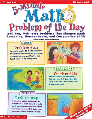 Image for 5-Minute Math Problem of the Day: 250 Multi-Step Word Problems