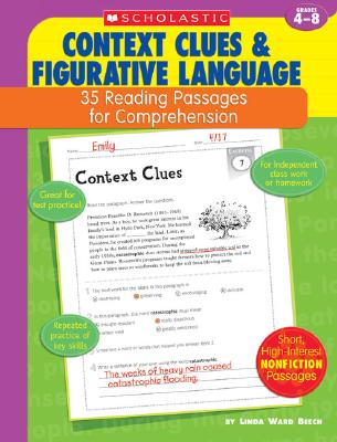 Image for Context Clues & Figurative Language: 35 Reading Passages for Comprehension
