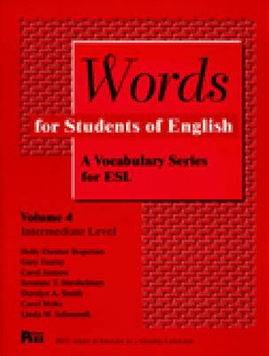 Image for Words for Students of English  a vocabulary series for ESL.  A Vocabulary Series for ESL