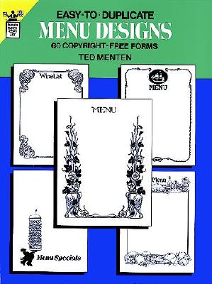 Image for Easy-to-Duplicate Menu Designs: 60 Copyright-Free Forms (Dover Pictorial Archive)