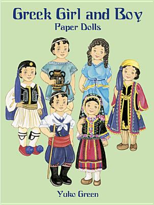 Greek Girl & Boy Paper Dolls, Yuko Green
