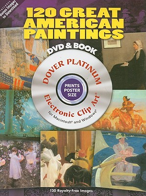 Image for 120 Great American Paintings Platinum DVD and Book (Dover Electronic Clip Art)